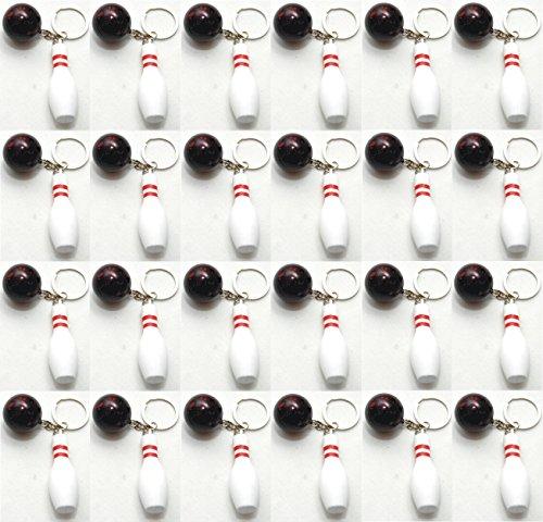 24 X BOWLING PINS mit Bowlingkugel Schlüsselanhänger Kegeln Kegel Pin by schenkfix