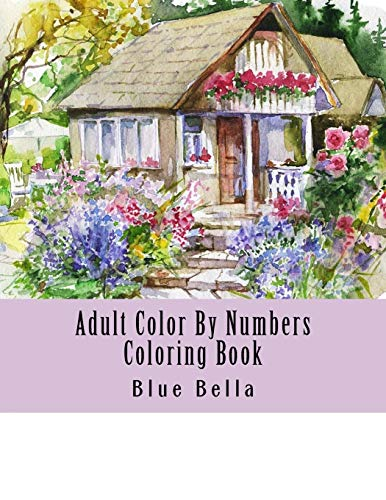 Adult Color By Numbers Coloring Book Easy Large Print Mega Jumbo Coloring Book Of Floral Flowers Gardens Landscapes Animals Butterflies And More