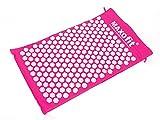Tappetino per agopressione MAXOfit pink S 67 x 41 x 2,5 cm con borsa, stuoia di yoga con funzione di massagio, al rilassamento