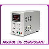 Alimentación de laboratorio DC 0–30VDC 0–5A Max/con doble pantalla LED