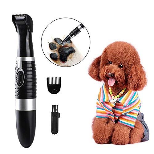 GorgeousyGeräuscharme, kabellose, kleine Haustier-Haarschneidemaschine, elektrische Haustier-Trimmer-Haarschneidemaschine, Scheren-Nagel-Kits für Hunde, Katzen und andere haarige Tiere -