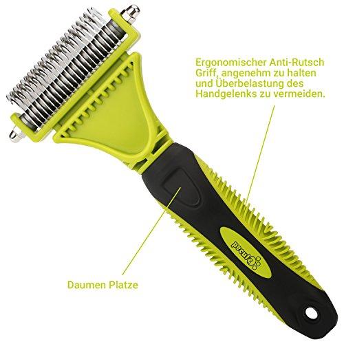 PecuteHaustier Dematting Grooming Kit --- Doppelseitige Klinge Rake Kamm + Pflege Kamm --- Entfernt lose Unterwolle Knoten Mats und Strubbelhaar -