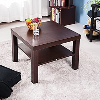 Life Carver Small Side/ Coffee Square Dining Table Brown - cheap UK light shop.