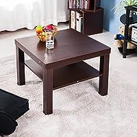 Vita Carver lato piccolo/caffè Tavolo da pranzo quadrato marrone Brown