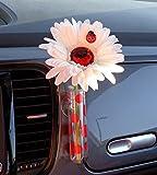 Bling My Bug Wrvase Universal-Vase mit Käfer und Blume, Weiß / Rot