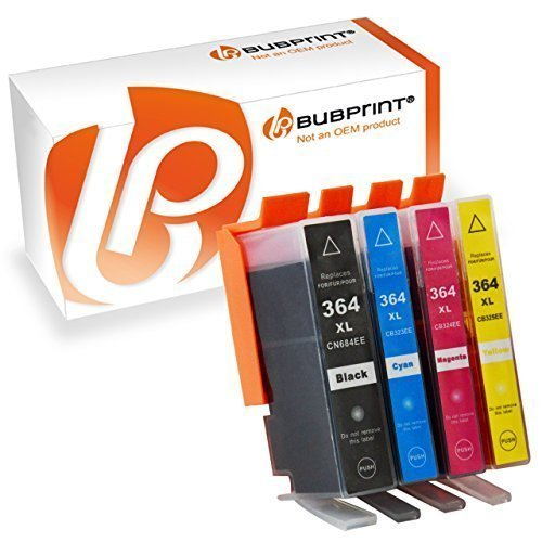 Bubprint 4 Druckerpatronen kompatibel für HP 364XL 364 XL für DeskJet 3070A 3522 OfficeJet 4620 PhotoSmart 5525 6510 6525 7520 e-All-in-One Plus B209A