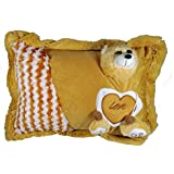 A-Mart Soft Toy Pillow Teddy Bear Light Brown For Kids Girls 14 X 12 Inch