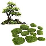 Fake Moss - Delama Green Simulation Grass, Bryophyte, per Bonsai, Garden, DIY Landscape Decor