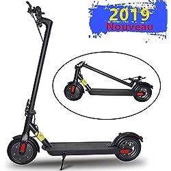 ScooterTrip Trottinette Électrique, 30km la Longue portée Pliable et Réglable en Hauteur Vitesse jusqu'à 30km/h Trottinette Électrique Adulte