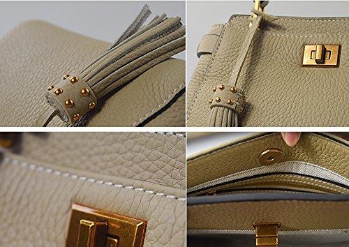Sacchetto di spalla uniforme della nappa della borsa del sacchetto della nuova borsa delle signore portatili mini sacchetto ( Colore : Nero ) Gray blue