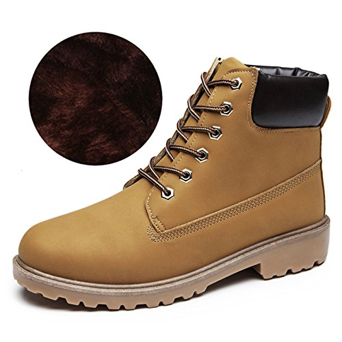 CHNHIRA Martin de Bottes Laine Boots de Cheval Chaussures de Randonnée Couples Chaussure Montantes Femme