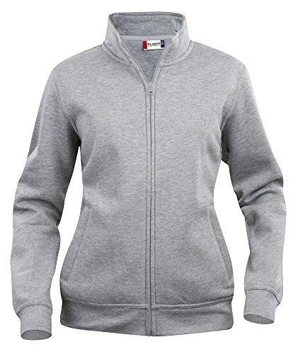 Damen Sweatshirt mit Reißverschluss/Zip Top. Seitliche Reißverschlusstaschen, i Pod/Handy Schlaufe. 7Farben inkl. Hi Viz, XS-XL Grau - Grey melange