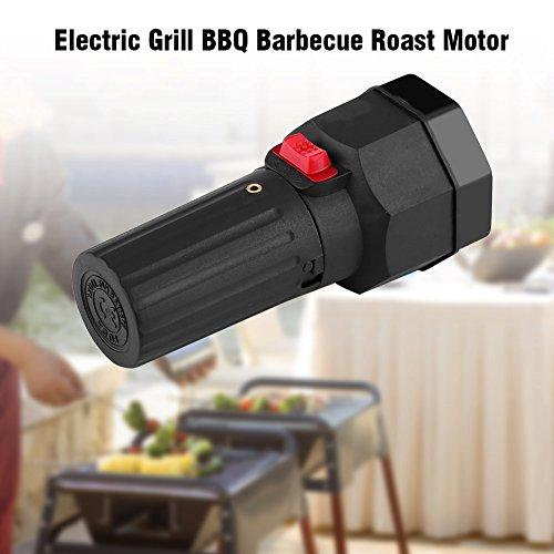 Barbecue Motor 1.5V Batteriebetriebene Black Elektrischer BBQ Grill Motor Batteriemotor Braten Bracket Zubehör Campingartikel Batterie Grillmotor für Grillspieße Roast Halterung Halter