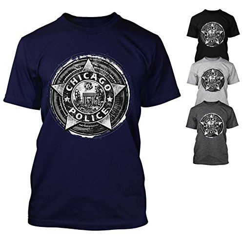 Chicago Police Dept. - T-Shirt in verschiedenen Farben (XL, Navy) (Herren Chicago T-shirt)