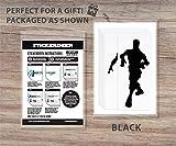 Floss Dancing Stickers- Jeu vidéo Floss Dancing Wall Decal Stickers pour enfants chambre Art décoration salons maison garçons chambre vinyle autocollant (noir)