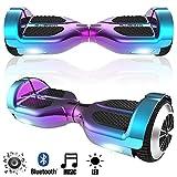 Magic Vida Skateboard Électrique 6.5 Pouces TW06-Violet-Cyan Très Léger avec Haut Parleur Bluetooth et LED Lumineux Gyropode Auto-Équilibrage de Bonne qualité pour Enfants et Adultes