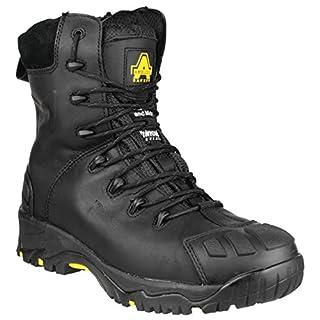 Amblers Safety FS999C S3 Mens Metal Zip Boots (10 UK) (Black)