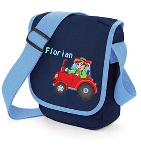 """TTS Kindergartentasche """"Traktor"""" mit Wunschtext Rot"""