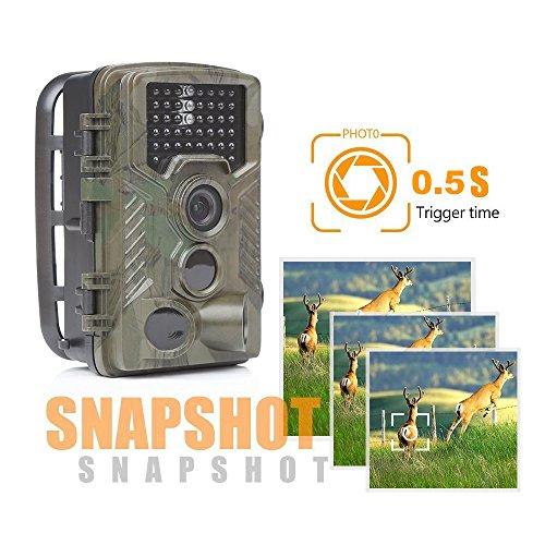 Cacoffay IR LED Weg Spiel Kamera 1080P Wasserdicht Jagd Scouting Nocken zum Tierwelt Überwachung Erkennen Angebot Bewegung Aktiviert Nacht Vision 2,4-Zoll-LCD
