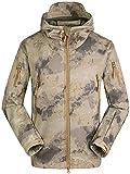 Mochoose Homme Outdoor Mountain Imperméable Coupe-Vent Fleece Softshell de Ski et Snowboard à Capuche Veste Vêtement de Sport de Pluie Camping la Pêche Chasse et Travail Jacket(Camouflage3,XL)