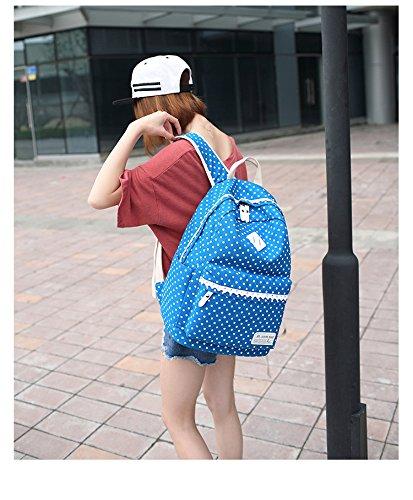 Spitze Geometrie Dot Lässige Leinwand Rucksack Reisetasche Laptop Tasche Schultasche Leichte Rucksäcke für Teen Junge Mädchen Sky Blau