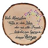 Baumscheibe mit Gravur zur Hochzeit Motiv Text wählbar