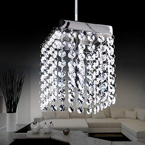dxx Gbyzhmh die Beleuchtung der modernen Leuchter-Kristalllampe führte Esszimmer-Edelstahl-Kristallleuchter von der Spannung 90-260 V Innenbeleuchtung,Keine Lichtquelle -