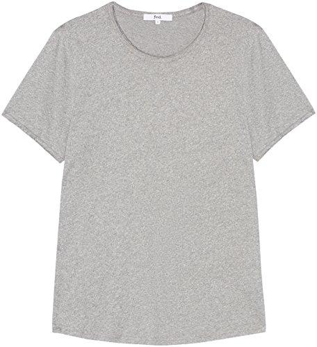 FIND T-shirt in Cotone Fiammato Uomo Grigio (Siro)