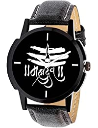 Scarter Mahadev Black Dial Analog Watch For Boys And Men-MH-Black-6