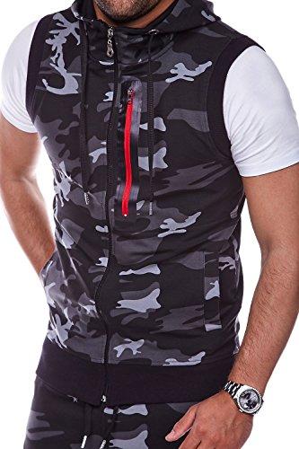 MT Styles Sweat-Weste Camouflage Grau R-0851
