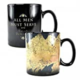 Game of Thrones - Keramik Thermoeffekt Tasse 400 ml - Landkarte - Westeros - Geschenkbox