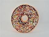 Dekokissen Donut Schoko mit Streuseln Durchmesser ca. 40 cm Sitzkissen Kuschelkissen Donutkissen