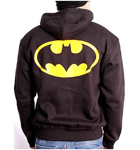 Sudadera con cremallera para hombre, diseño de Batman Logo-back negro L