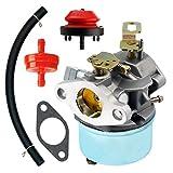 QAZAKY Vergaser mit Passepartout Dichtung Kraftstoff Filte Primerpumpe Fuel Line für Tecumseh Motor 640298oh195sa 7HP ohsk704-Takt Motor Schneefräse