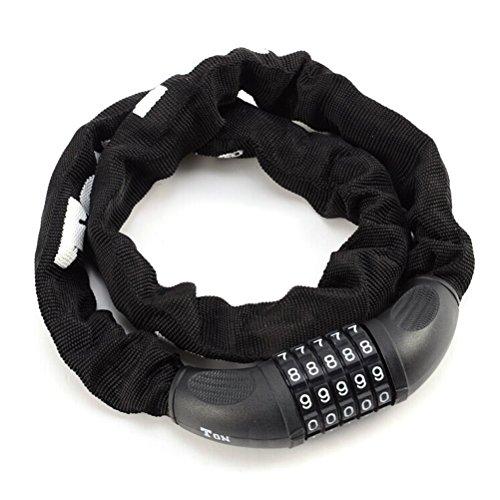 TONYON Profi-Fahrrad Sicherheit codiert Lock (schwarz)