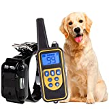 PPYY Hundehalsband,800M Wiederaufladbare Fernschulterkragen mit Beep Vibration und Shock LCD Elektronische Halsband Für Alle Hunde,A