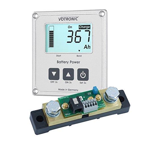 100A 12V/24V VOTRONIC Smart Akku Shunt mit LCD AKKU Monitor und 5m - 12-volt-systemsteuerung