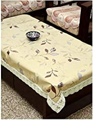 STITCHNEST Plastic Table Cover 40 x 60 Inches, 4 Seater, Table Cover Anti Skid, Pack of 1