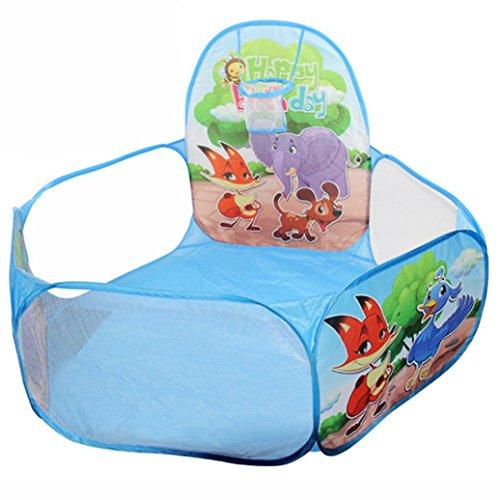 FAMILIZO Pop Up Hexágono del lunar de los niños jugar a la pelota piscina Carpa Llevar un totalizador del juguete (Azul)