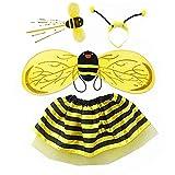 Fulfun 4 Stück Hummel Honig Mädchen Kinder Fee Halloween Kostüm Party Kostüm
