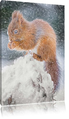 piccolo-scoiattolo-in-inverno-effetti-bunstift-formato-120x80-su-tela-xxl-enormi-immagini-completame
