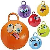 Kinder Hüpfball Springball mit Griff Springender Ball mit Gesicht in 6 Farben