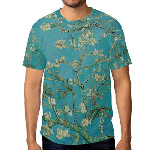T-Shirt für Männer Jungen Blossom Tree Custom Short Sleeve -