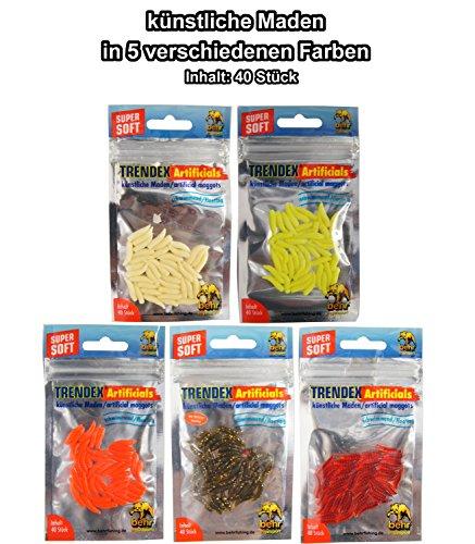 Gummimaden 40 Stk.Behr Trendex künstliche Maden,Fake Baits,Maggots Forellenköder
