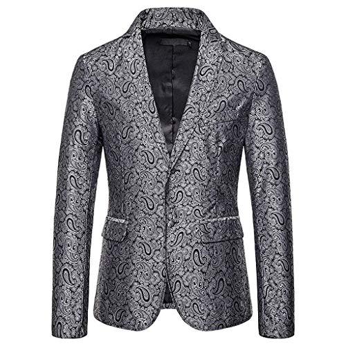 Schwarz Muskel Anzug - Qinhanjia Herren Smoking Jacken stilvolle Vintage