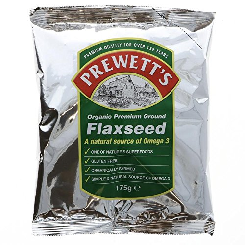 Prewetts | Organic Ground Flaxseed | 5 X 175G