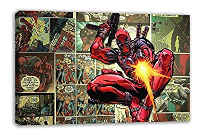 Marvel Deadpool Wade Wilson Superhero Comic Strip Canvas Wall Art