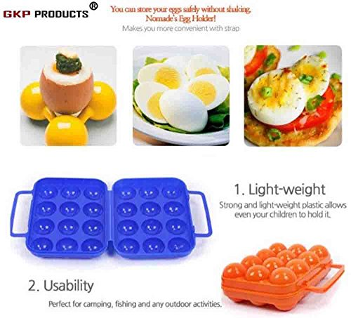 GKP Products ® ABS Quality Eggs Holder, Color-Assorted ,Qty-(1pc)