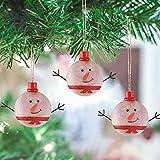 Valery Madelyn Holz Weihnachtsdeko Schneemann Anhänger 3tlg 6CM Weihnachtssnhänger In den Wald Thema Weihnachtsbaum zum Hängen Weihnachtsdekoration für Christbaumschmuck