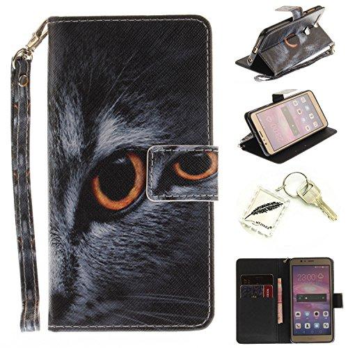 Preisvergleich Produktbild Silikonsoftshell PU Hülle für Huawei Honor 8 (5,2 Zoll) Tasche Schutz Hülle Case Cover Etui Strass Schutz schutzhülle Bumper Schale Silicone case+Exquisite key chain X1#KE (6)